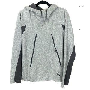 JORDAN cowl neck grey sweater Q7